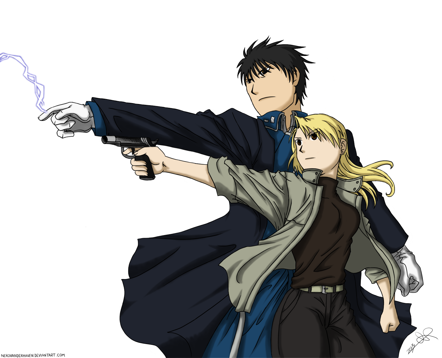 Riza hawkeye png. Roy mustang and by