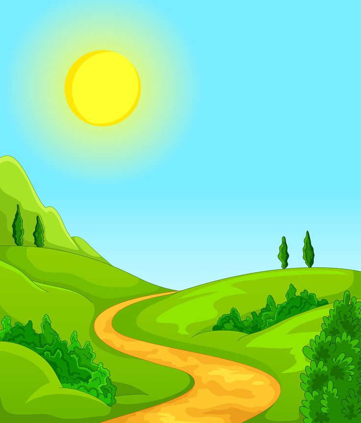 Road clipart. Scenery clip art images