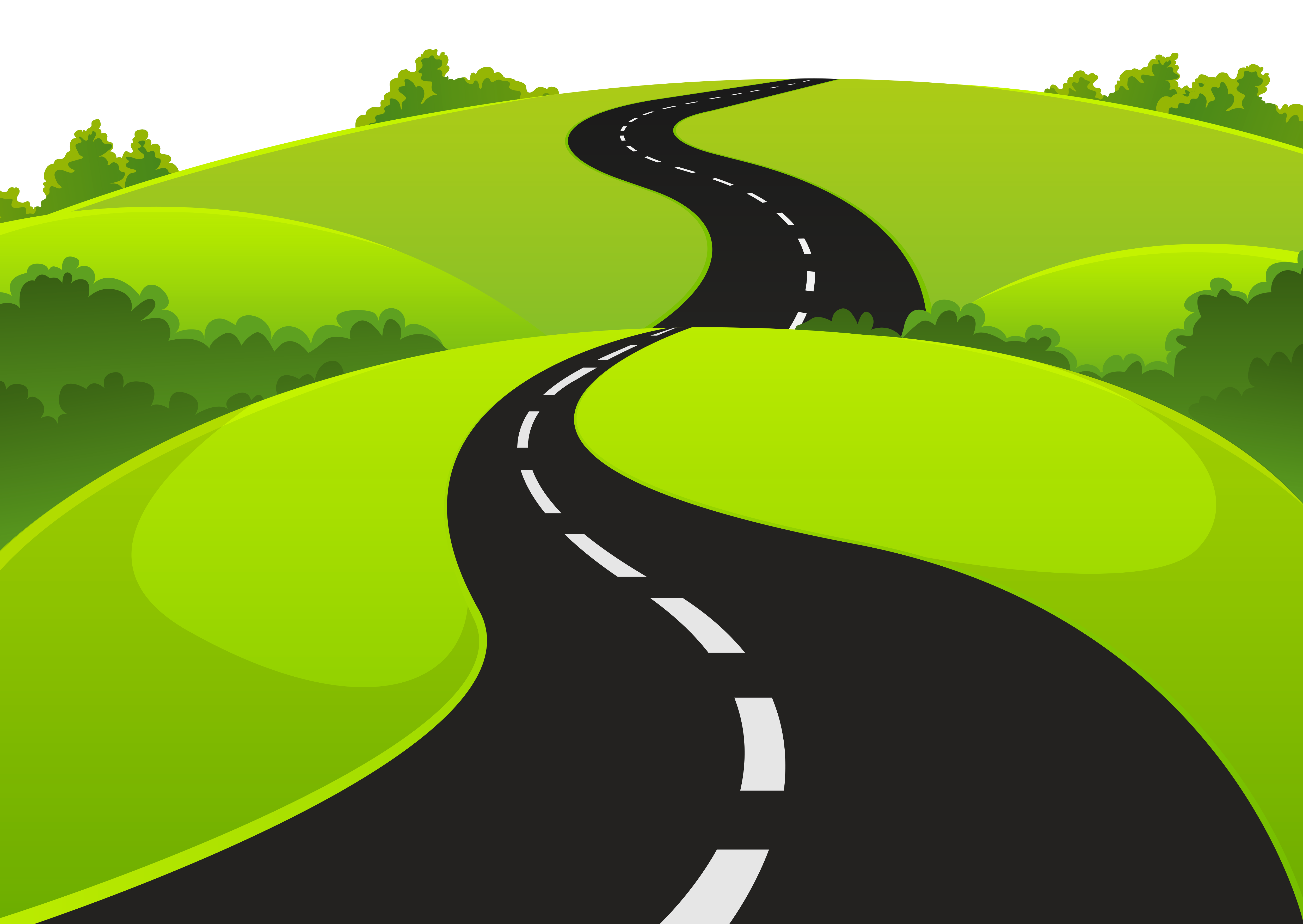 Road clipart. And grass png picture