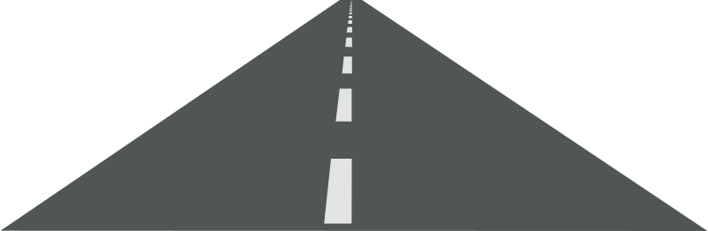 Road clipart side view. Straight vector clip art