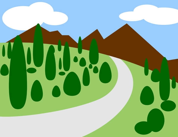 Road clipart raod. Mountain clipground