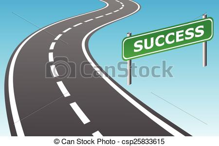To and sign as. Road clipart success clip black and white stock
