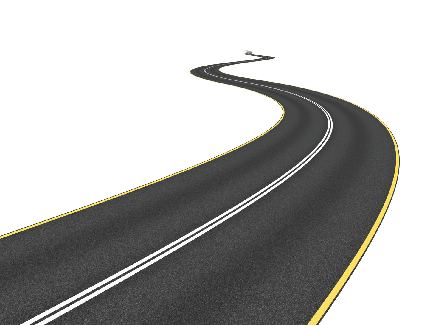 Road clipart. Long curvy  graphic black and white download