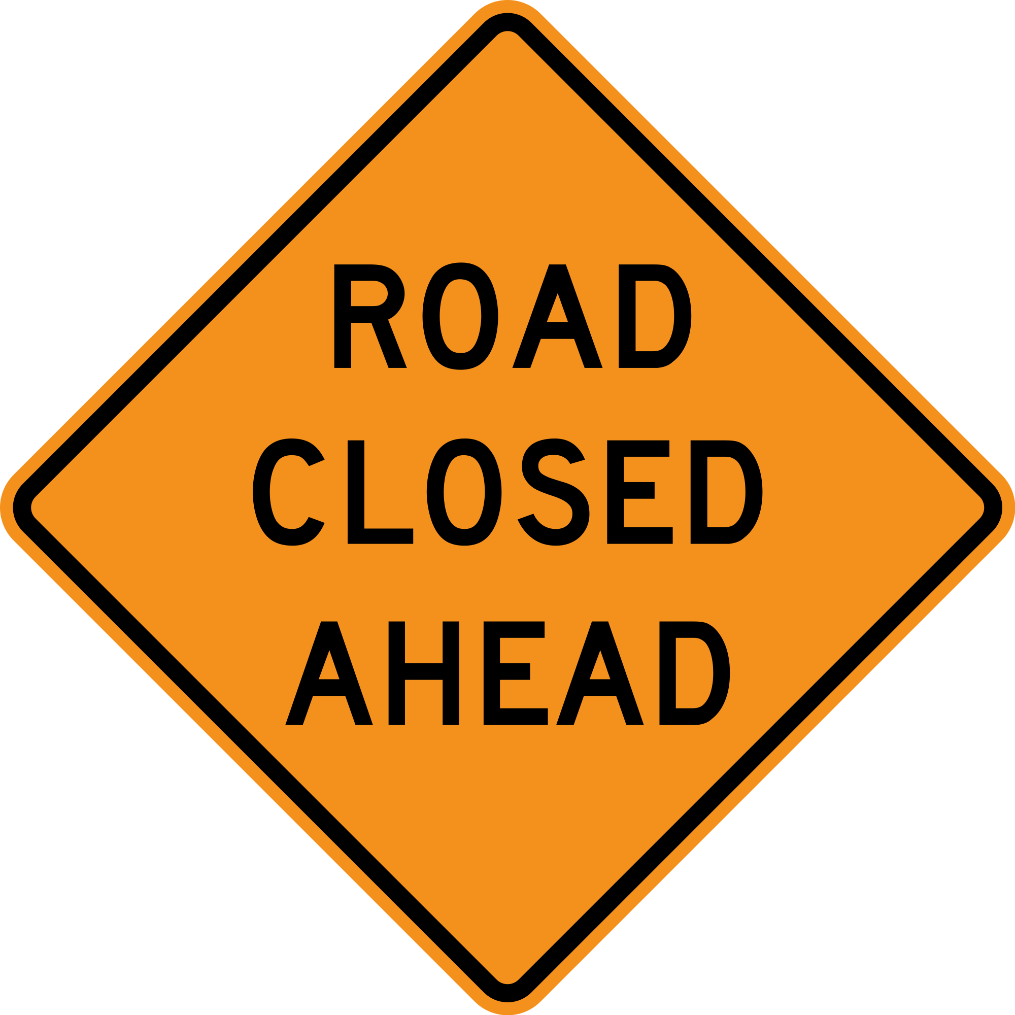 road closed png