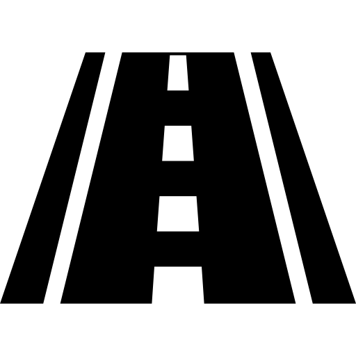 Road icon png. Ahead straight perspective free