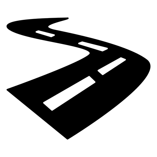 Vector roads logo. Road street curved icon