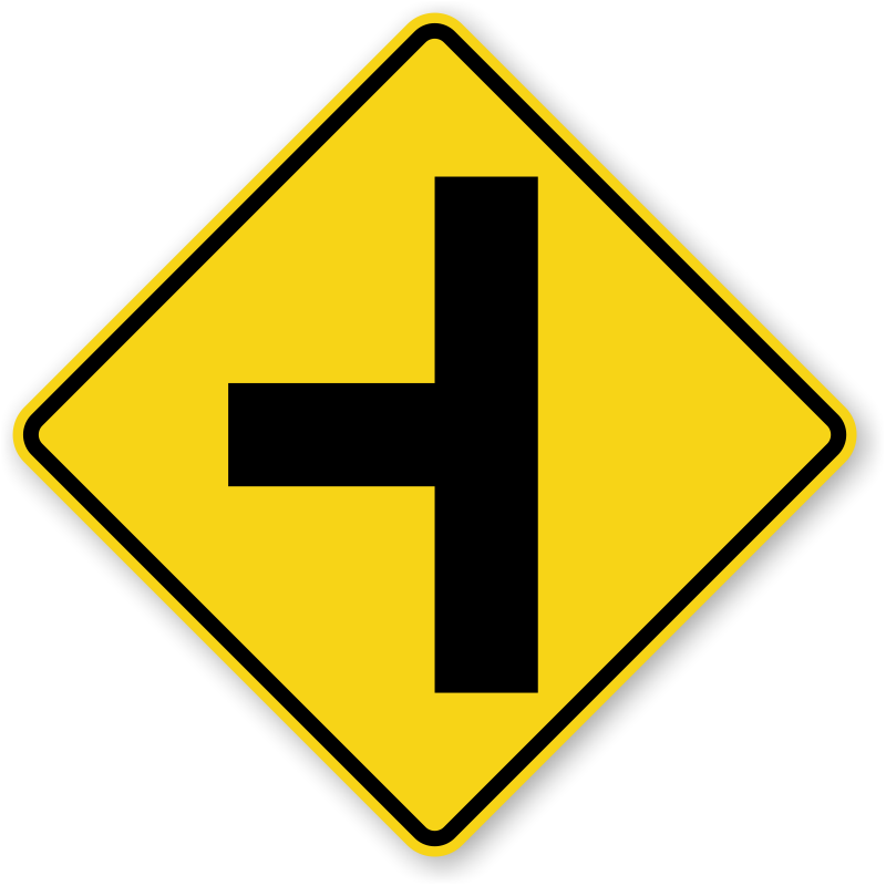 Road signs png. Side traffic sign w