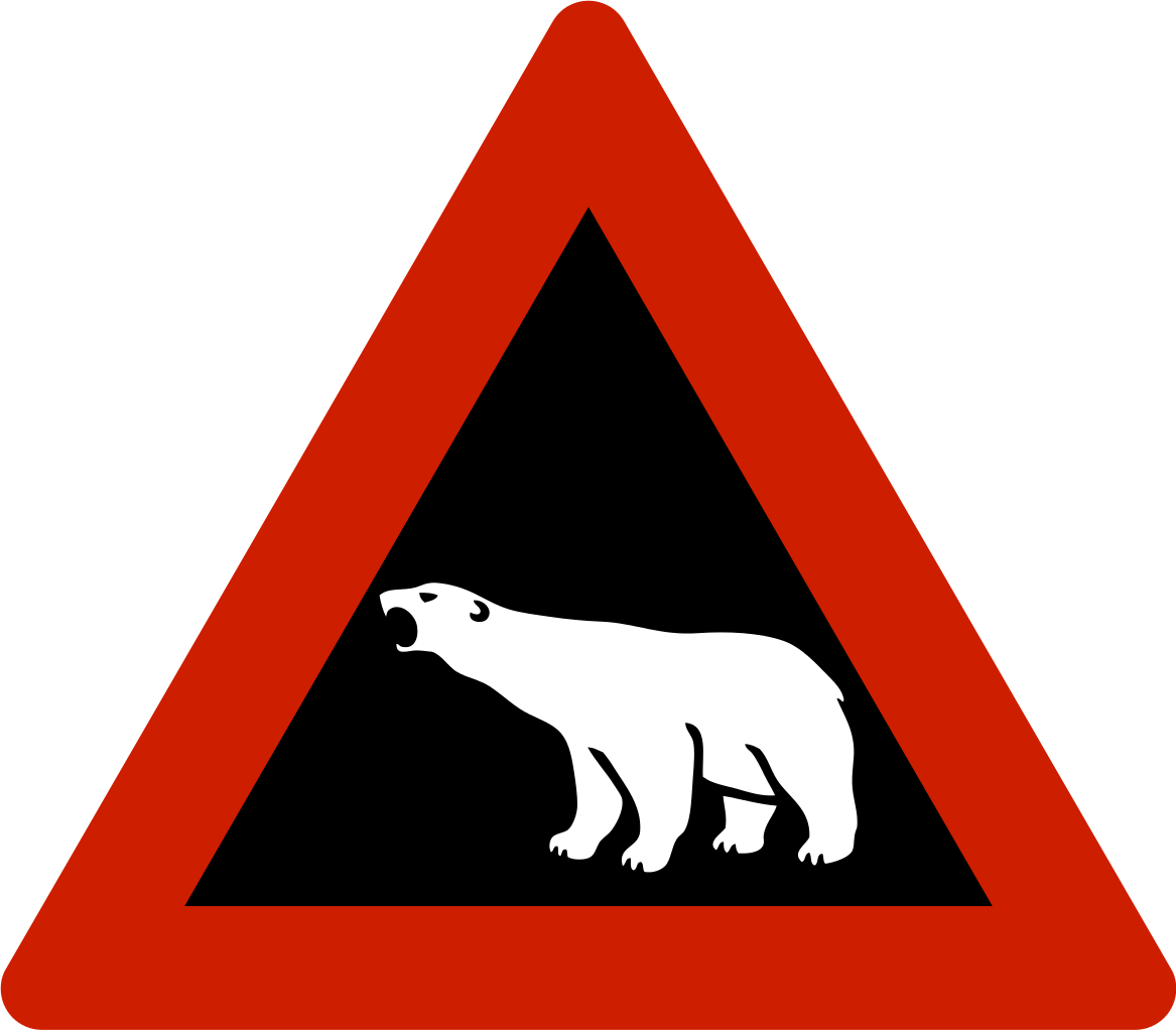 File norwegian sign polar. Road svg clip library library