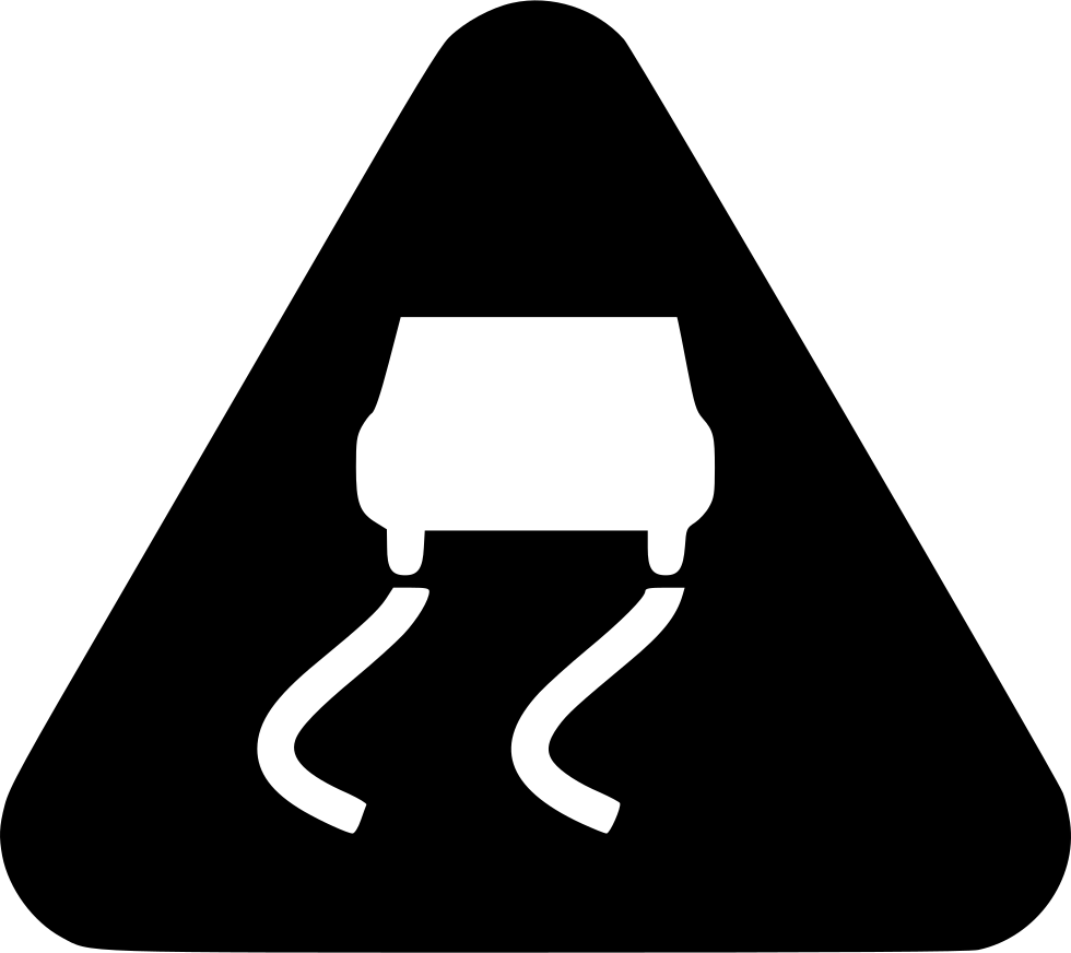 Road svg illustration. Slippery png icon free