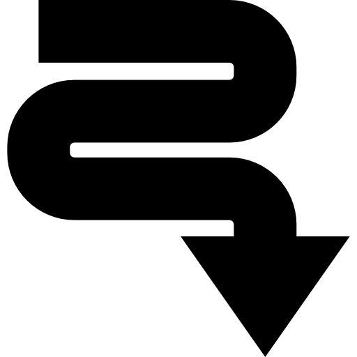 Road svg meandering. Icon png
