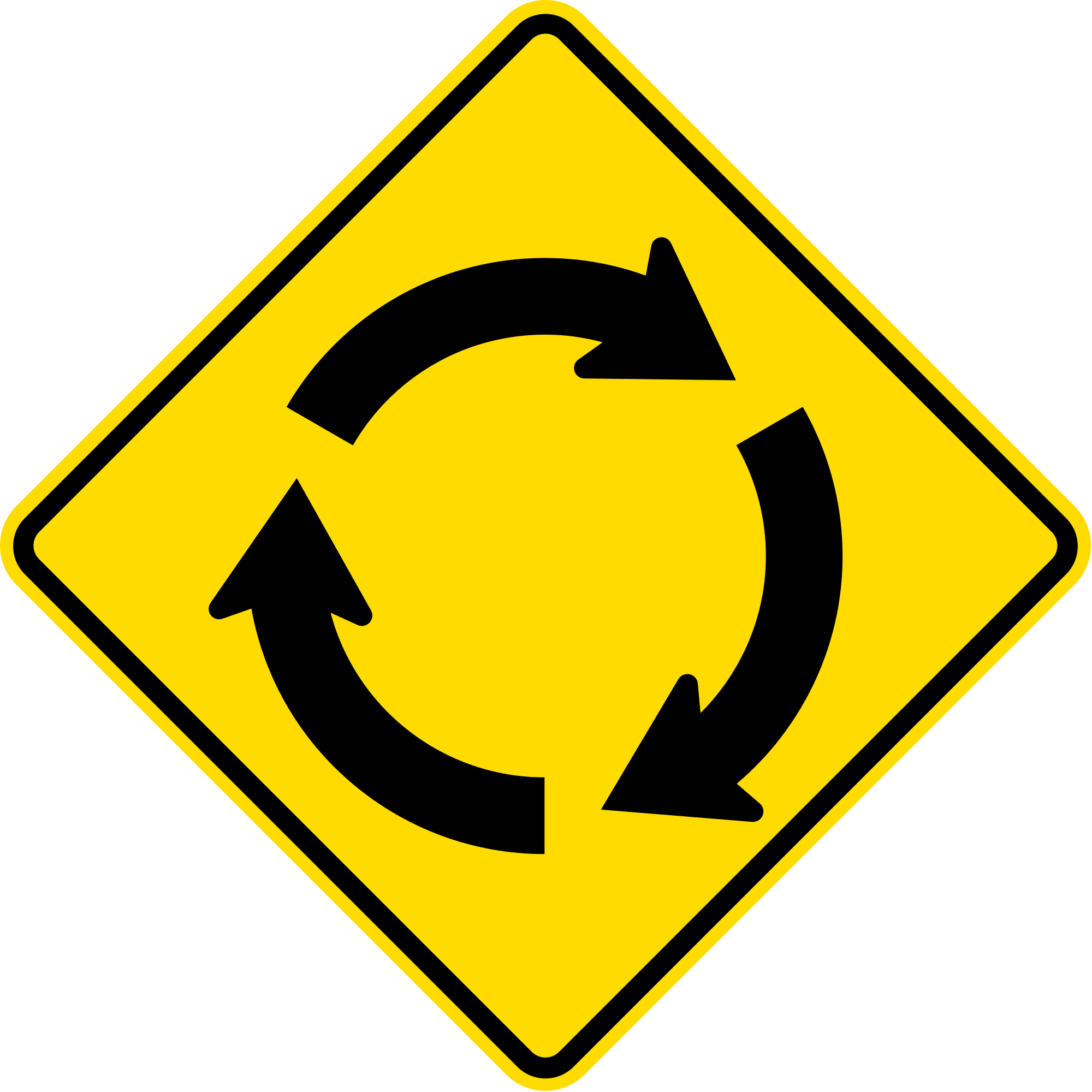 Road svg sign. File new zealand w