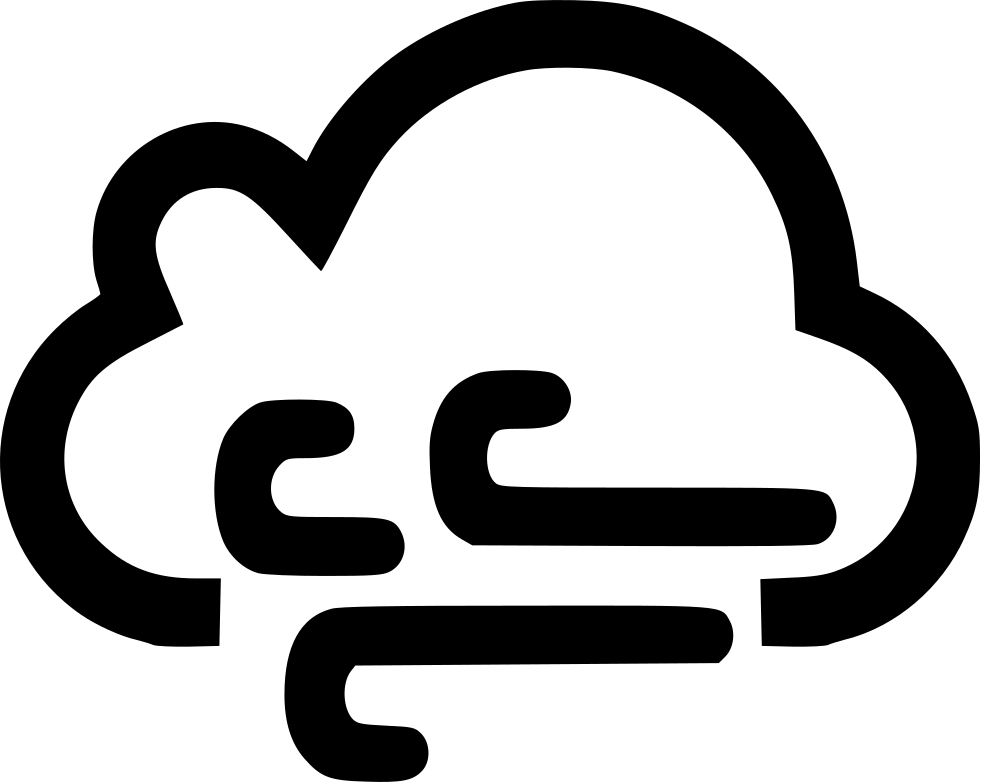 Road svg windy. Cloud wind png icon