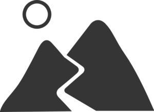 Gray mountain clip art. Road svg image freeuse stock
