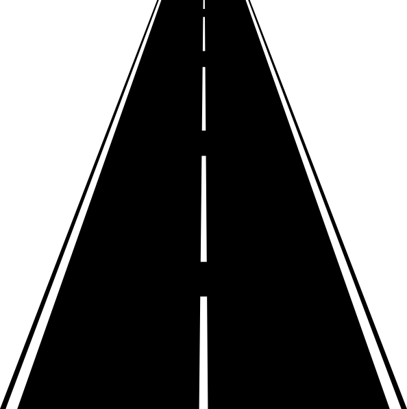 Roads clipart black and white. Street clip art at