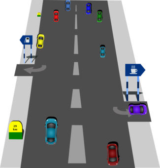 Street clipart. Road curve highway traffic