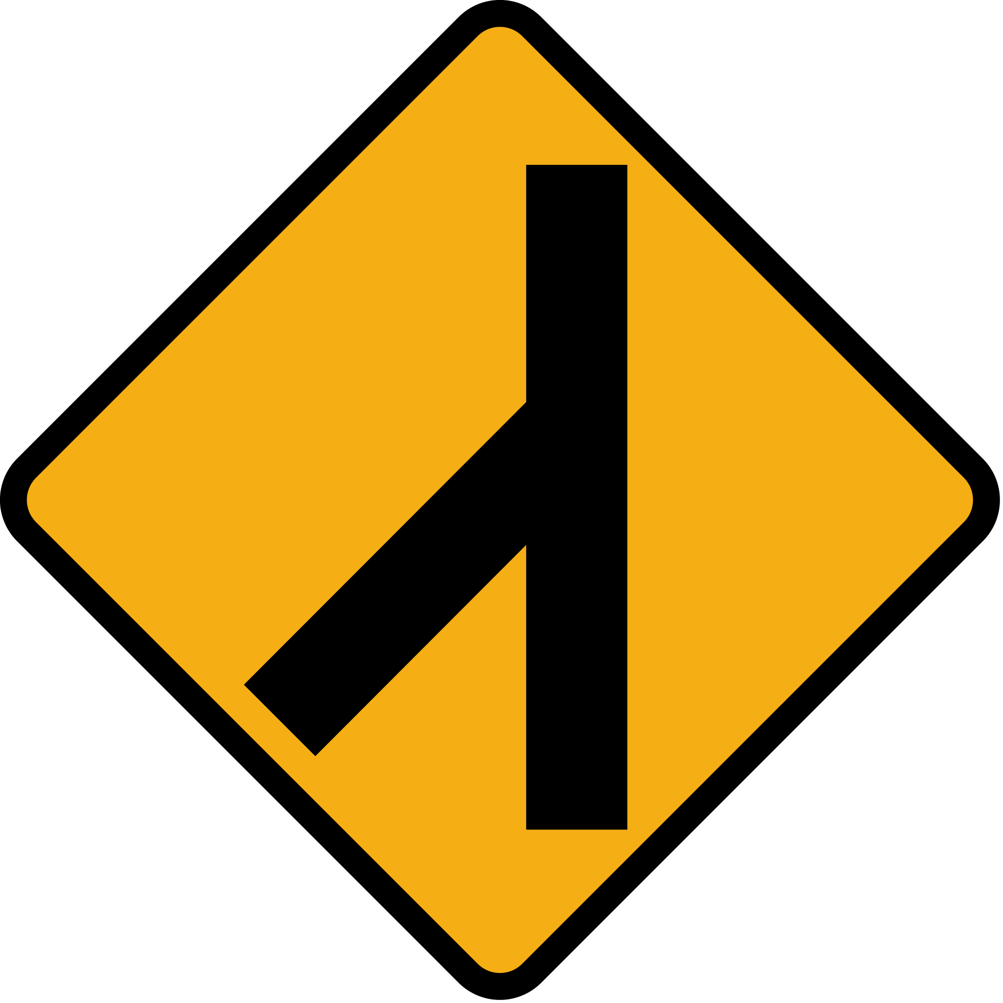 Roadsign vector. File diamond road sign
