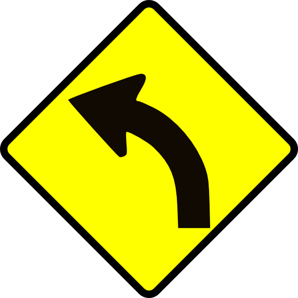 Roadsign vector clip art. Collection of free curved