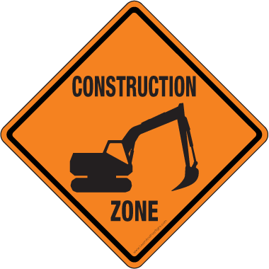Roadsign vector printable. Construction signs pictures clipart