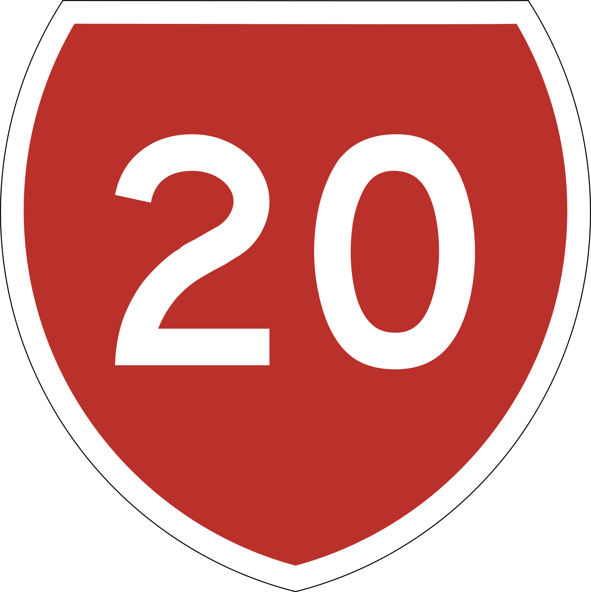 Roadsign vector red shield. File state highway nz