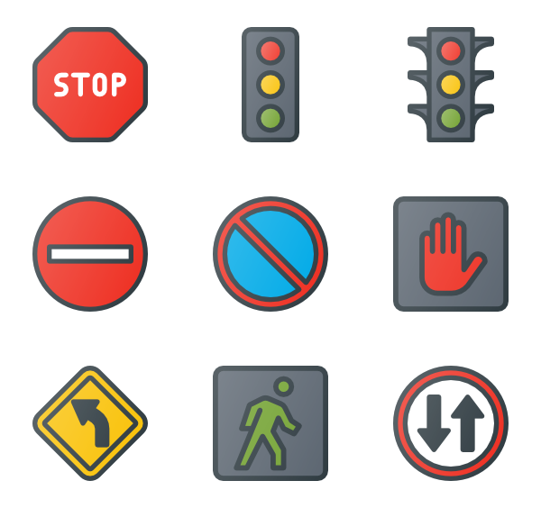 Roadsign vector single. Road sign icons free