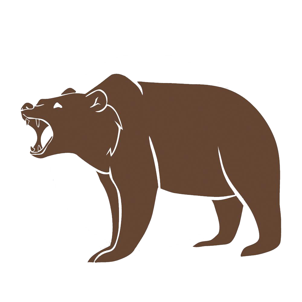 Roaring bear png. Polar brown grizzly big