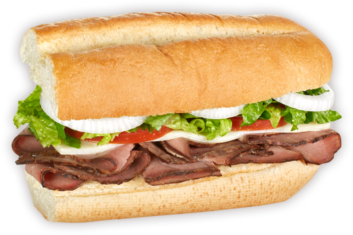 Roast beef sandwich png. Blimpie and provolone