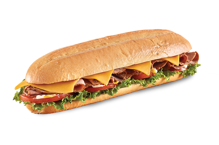 Roast beef sandwich png. Cheddar baguette country style