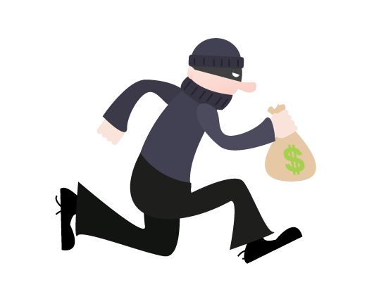 Robber clipart bank. Robbery
