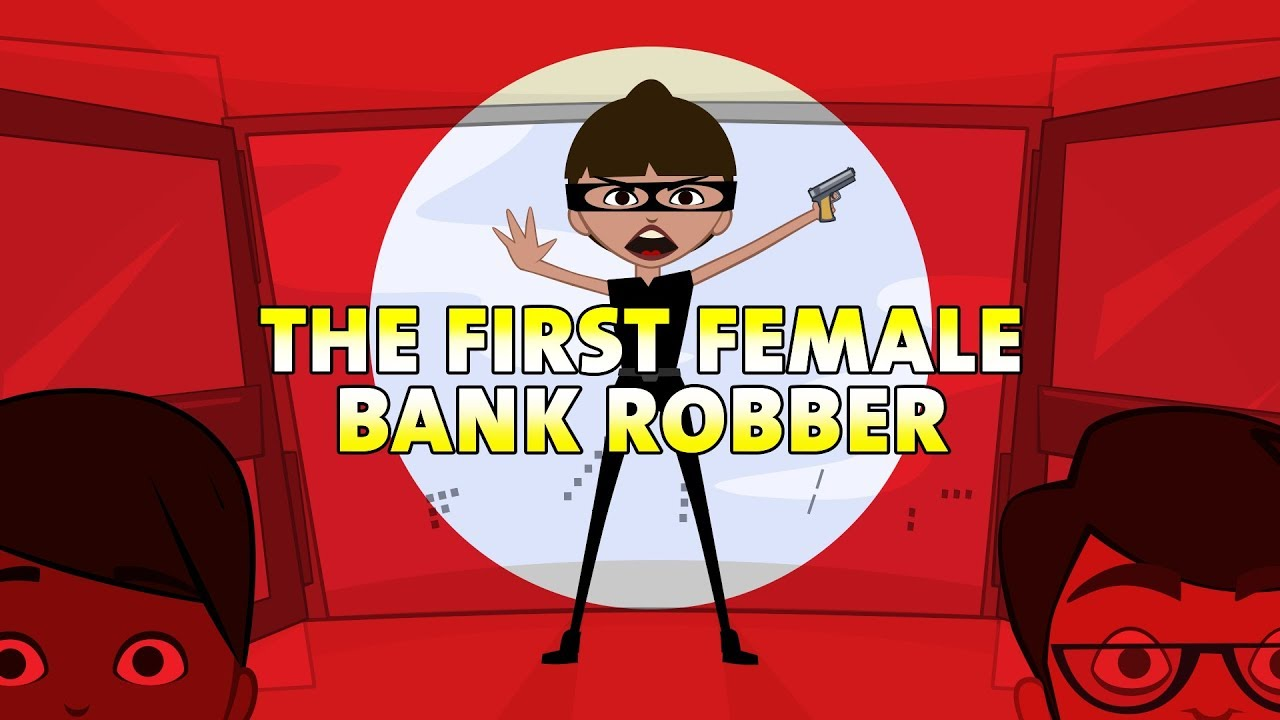 Robber clipart girl robber. The first female bank
