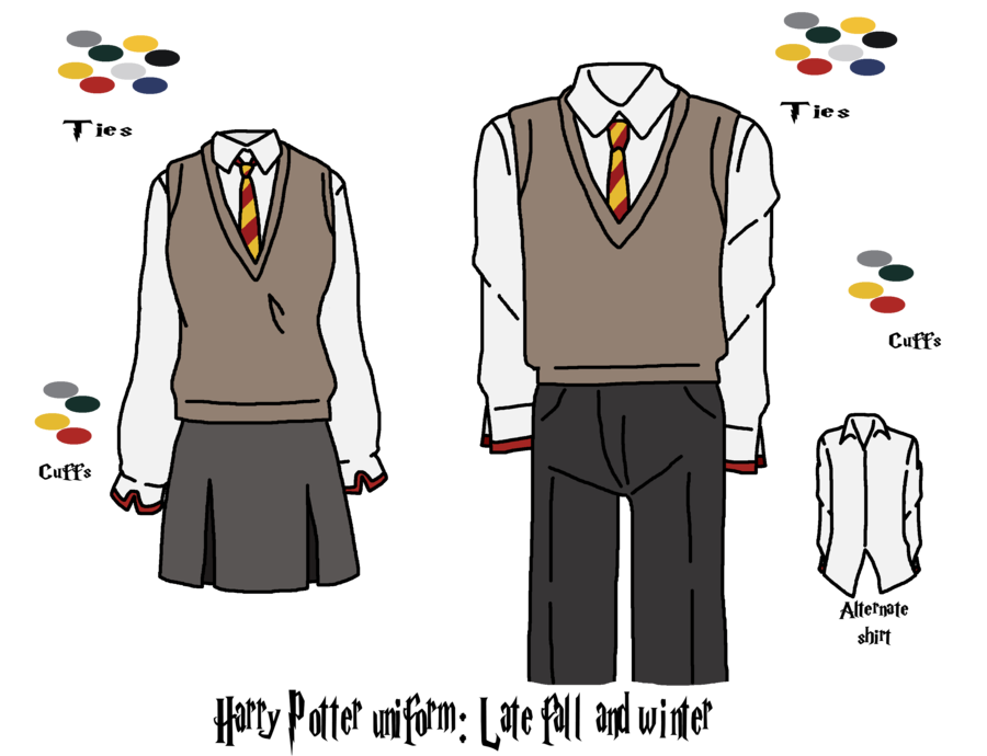 Robes drawing harry potter. Collection of uniform