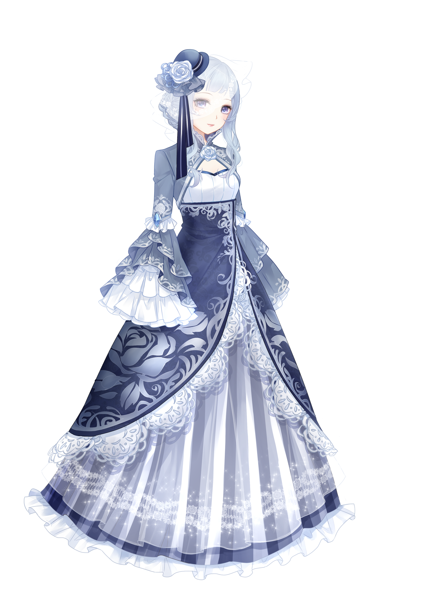 Drawing diary couture dress. Victorian dresses anime girl