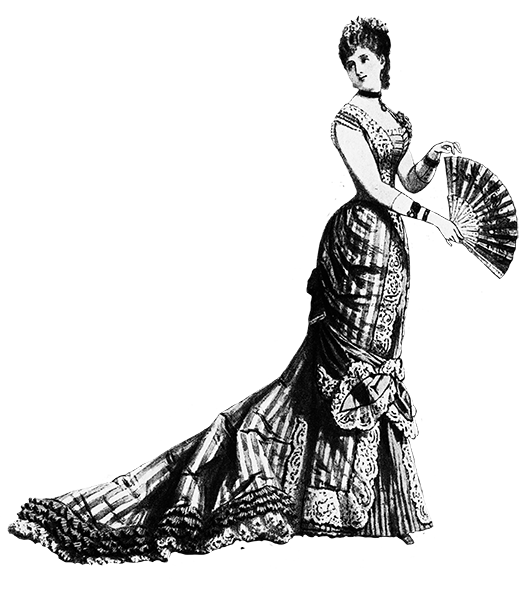 Robes drawing victorian. Ladie s evening dress