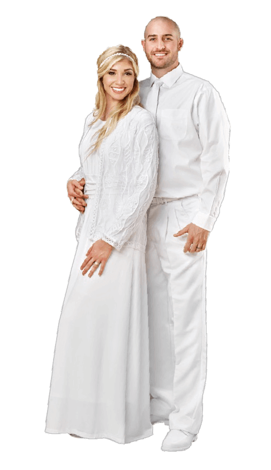 Robes drawing white. Elegance makers of lds