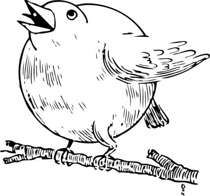 Robin clipart black and white. Free round vector graphics