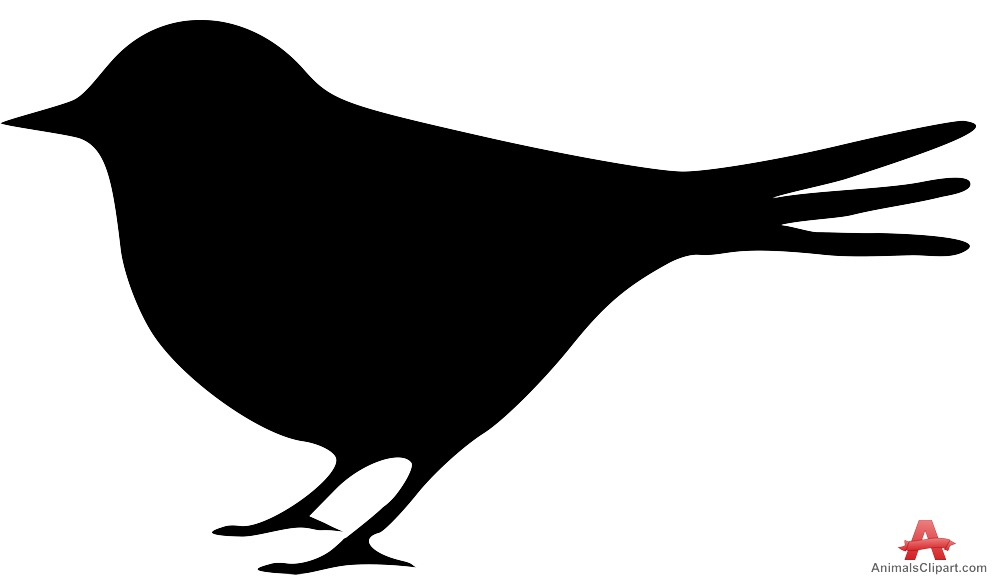 Robin clipart small bird. Silhouette at getdrawings com
