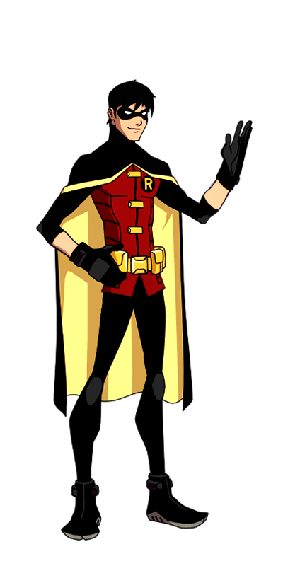 Robin comic png. Dc new earth animated
