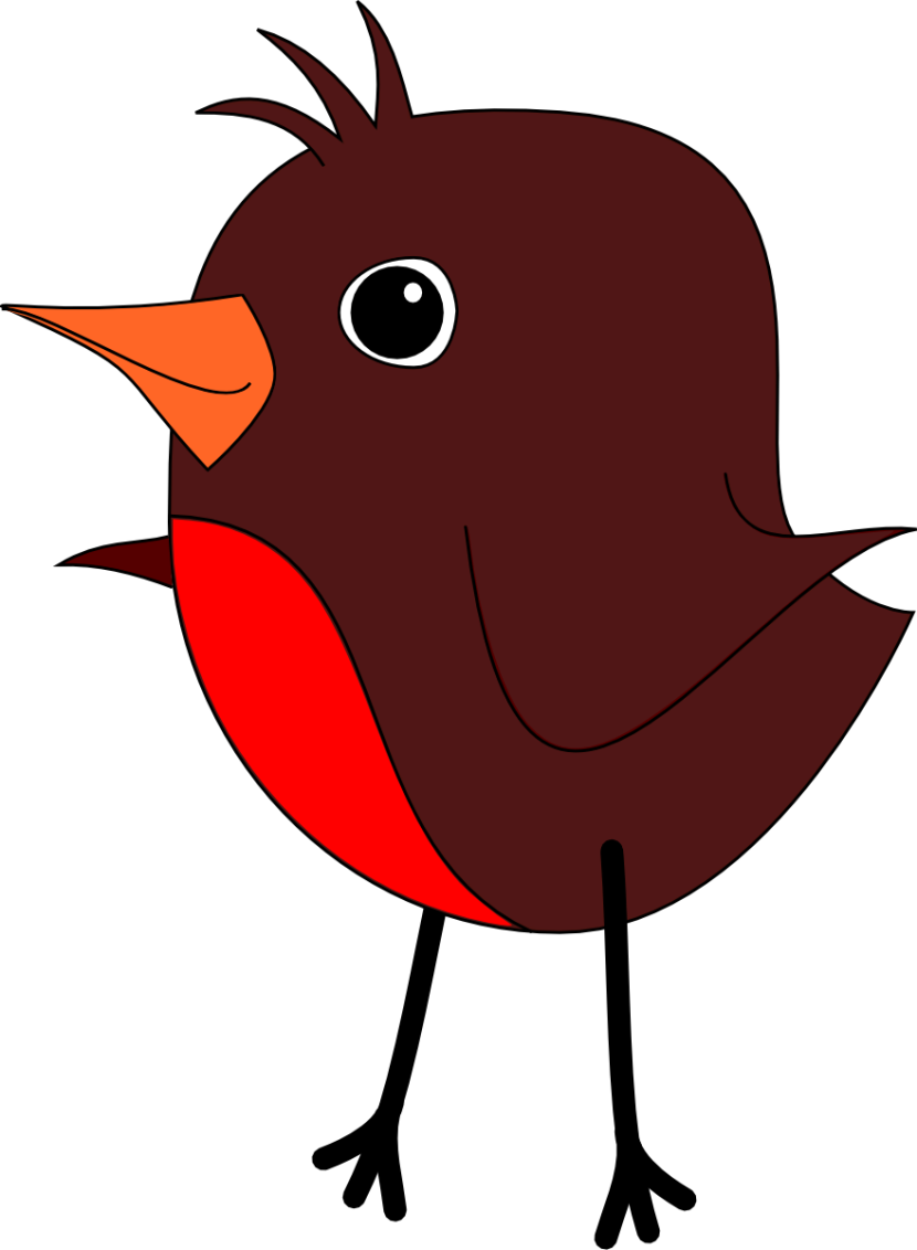 Collection of red. Robin vector animated vector library stock