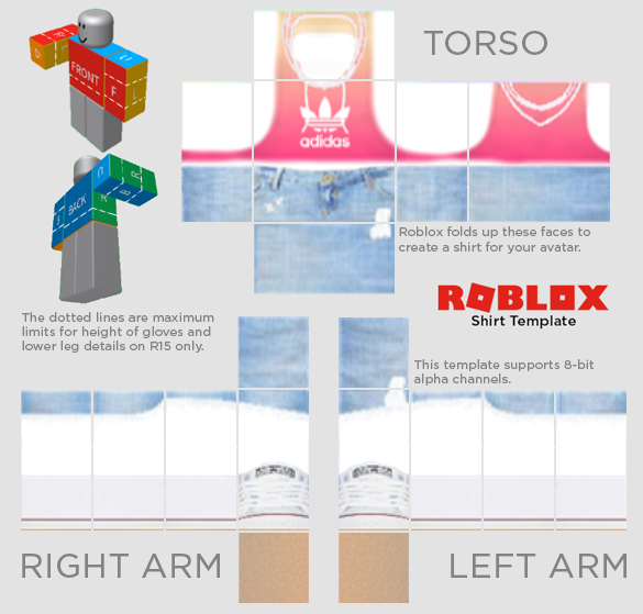 transparent templates shirt roblox
