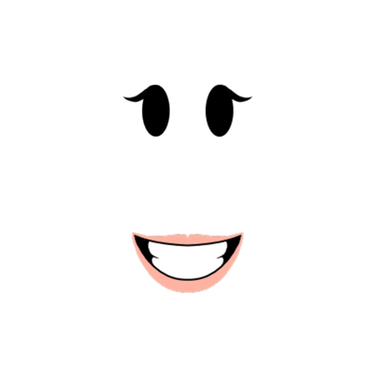 The better smiling girl. Roblox face png clip art royalty free library
