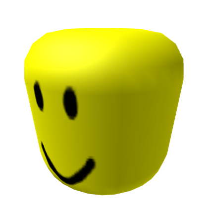 Roblox head png. Big yellow with face