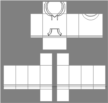 Roblox hoodie png. Download template image with