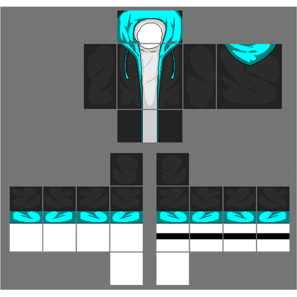 Roblox jacket png. Black with cyan blue