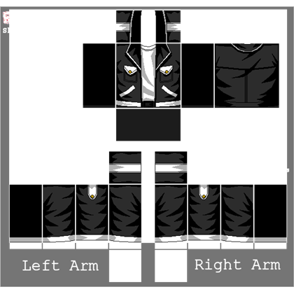Roblox jacket png. Black white