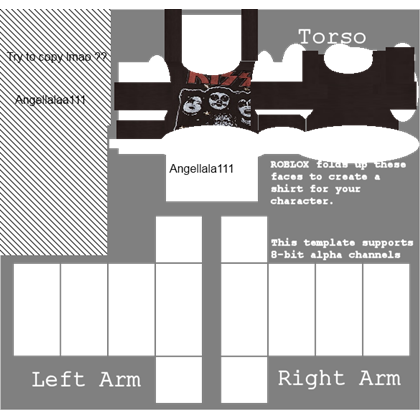 Roblox muscle t shirt png. Cropped kiss tee