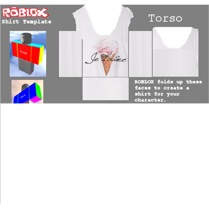 Roblox muscle t shirt template png. Je aime ice cream