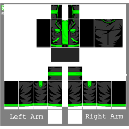 Roblox muscle t shirt template png. Green jacket