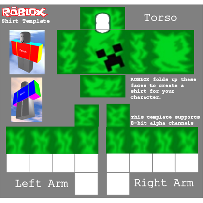 Roblox shirt png. Creeper