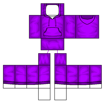 Purple hoodie. Roblox shirt png graphic black and white download
