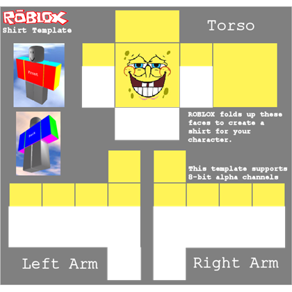 Roblox shirt template png. Spongebob