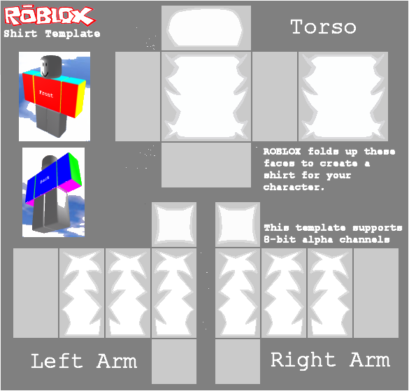 Transparent templates roblox. Shadded shirt template by